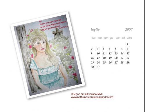 Calendario Luglio 2007.Luglio 2007 Favole E Realta Notturnosenzaluna
