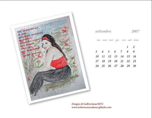 Calendario Settembre 2007.Settembre 2007 Favole E Realta Notturnosenzaluna